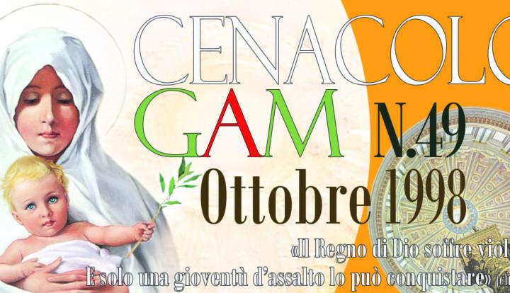 CenacoloGAM – Ottobre 1998